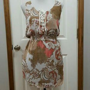 Free People Paisley Mini Dress Size XS
